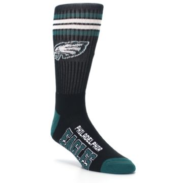 Image of Philadelphia Eagles Men's Athletic Crew Socks (side-1-27)