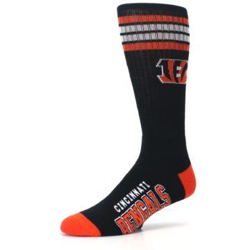 Image of Cincinnati Bengals Men's Athletic Crew Socks (side-2-09)