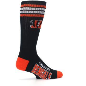 Image of Cincinnati Bengals Men's Athletic Crew Socks (side-1-23)