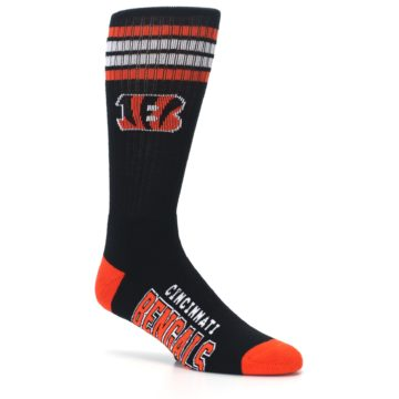 Image of Cincinnati Bengals Men's Athletic Crew Socks (side-1-26)