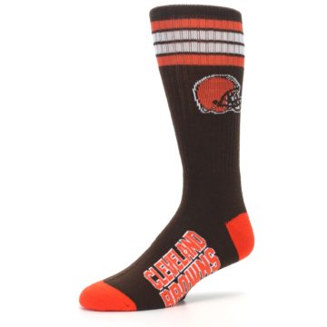 Image of Cleveland Browns Men's Athletic Crew Socks (side-2-09)