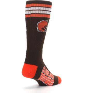 Image of Cleveland Browns Men's Athletic Crew Socks (side-1-back-21)