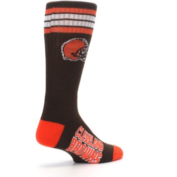 Image of Cleveland Browns Men's Athletic Crew Socks (side-1-back-22)