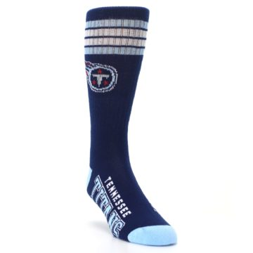 Image of Tennesse Titans Men's Athletic Crew Socks (side-1-front-02)