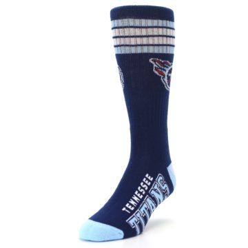 Image of Tennesse Titans Men's Athletic Crew Socks (side-2-front-07)