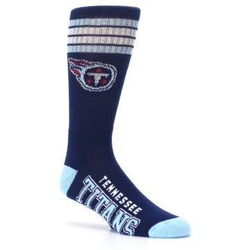 Image of Tennesse Titans Men's Athletic Crew Socks (side-1-26)