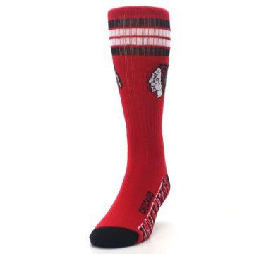 Image of Chicago Blackhawks Men's Athletic Crew Socks (side-2-front-06)