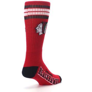 Image of Chicago Blackhawks Men's Athletic Crew Socks (side-1-back-21)