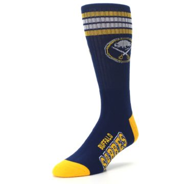 Image of Buffalo Sabres Men's Athletic Crew Socks (side-2-front-08)
