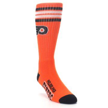 Image of Philadelphia Flyers Men's Athletic Crew Socks (side-1-front-02)