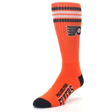 Image of Philadelphia Flyers Men's Athletic Crew Socks (side-2-front-08)