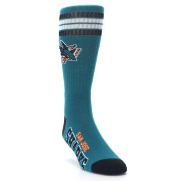 Image of San Jose Sharks Men's Athletic Crew Socks (side-1-front-02)