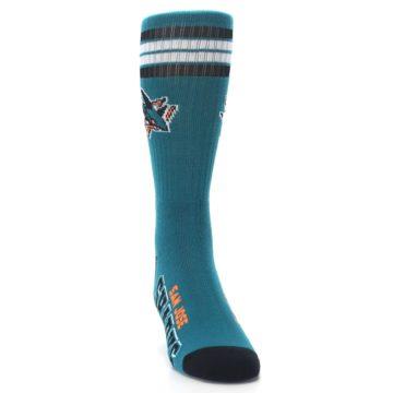 Image of San Jose Sharks Men's Athletic Crew Socks (side-1-front-03)