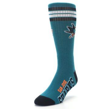 Image of San Jose Sharks Men's Athletic Crew Socks (side-2-front-07)