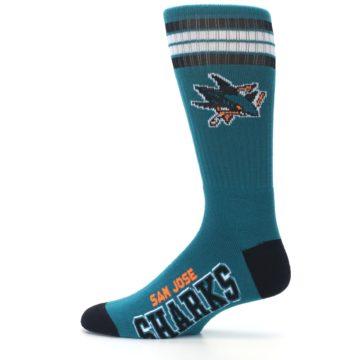 Image of San Jose Sharks Men's Athletic Crew Socks (side-2-12)