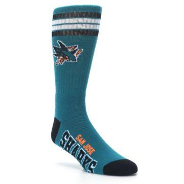 Image of San Jose Sharks Men's Athletic Crew Socks (side-1-27)