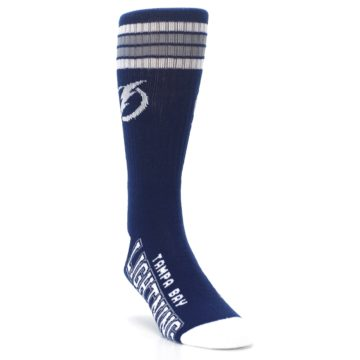 Image of Tampa Bay Lightning Men's Athletic Crew Socks (side-1-front-02)