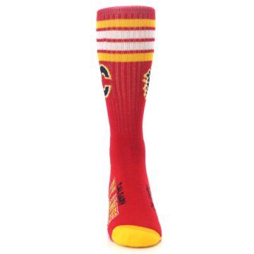 Image of Calgary Flames Men's Athletic Crew Socks (front-04)