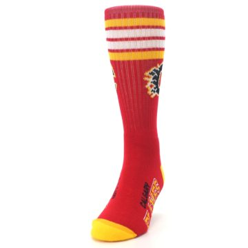 Image of Calgary Flames Men's Athletic Crew Socks (side-2-front-06)