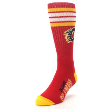 Image of Calgary Flames Men's Athletic Crew Socks (side-2-front-07)