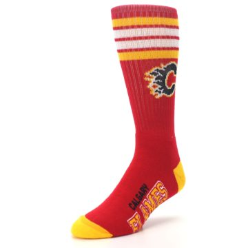 Image of Calgary Flames Men's Athletic Crew Socks (side-2-front-08)