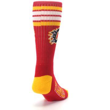 Image of Calgary Flames Men's Athletic Crew Socks (side-1-back-20)