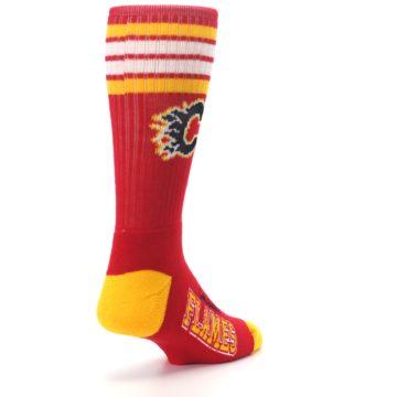 Image of Calgary Flames Men's Athletic Crew Socks (side-1-back-21)