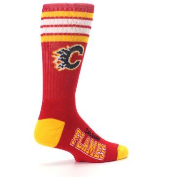 Image of Calgary Flames Men's Athletic Crew Socks (side-1-23)
