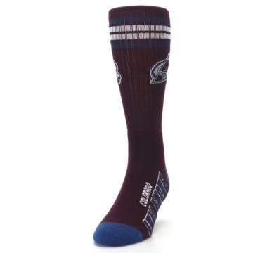 Image of Colorado Avalanche Men's Athletic Crew Socks (side-2-front-06)