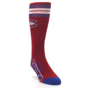 Image of Montreal Canadiens Men's Athletic Crew Socks (side-1-front-02)