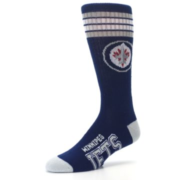 Image of Winnipeg Jets Men's Athletic Crew Socks (side-2-09)