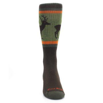 Image of Green Brown Buck Men's Hiking Wool Socks (front-04)