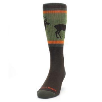Image of Green Brown Buck Men's Hiking Wool Socks (side-2-front-06)