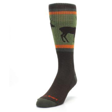 Image of Green Brown Buck Men's Hiking Wool Socks (side-2-front-07)