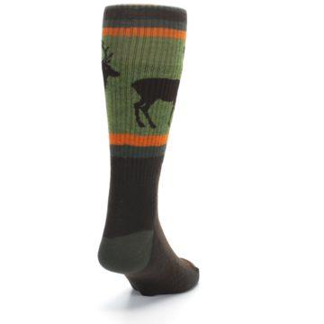 Image of Green Brown Buck Men's Hiking Wool Socks (side-1-back-20)