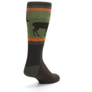Image of Green Brown Buck Men's Hiking Wool Socks (side-1-back-21)