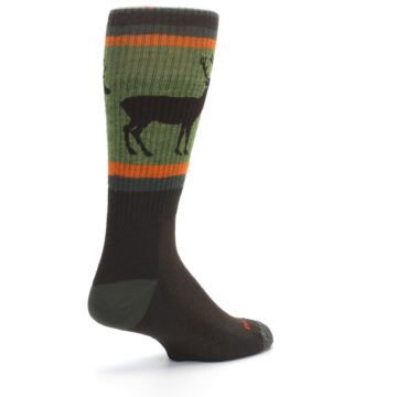 Image of Green Brown Buck Men's Hiking Wool Socks (side-1-back-22)