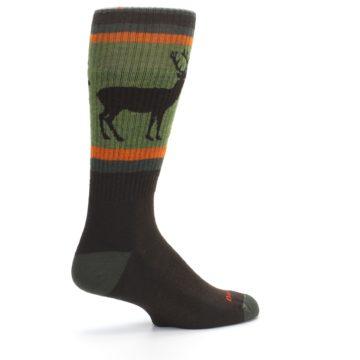 Image of Green Brown Buck Men's Hiking Wool Socks (side-1-23)