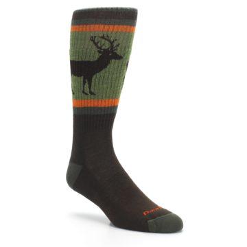 Image of Green Brown Buck Men's Hiking Wool Socks (side-1-27)