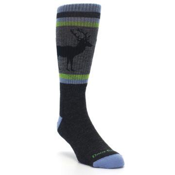 Image of Blue Green Buck Wool Men's Hiking Socks (side-1-front-02)
