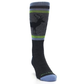 Image of Blue Green Buck Wool Men's Hiking Socks (side-1-front-03)