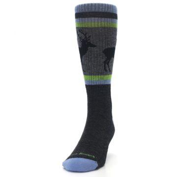 Image of Blue Green Buck Wool Men's Hiking Socks (side-2-front-06)