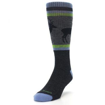 Image of Blue Green Buck Wool Men's Hiking Socks (side-2-front-07)