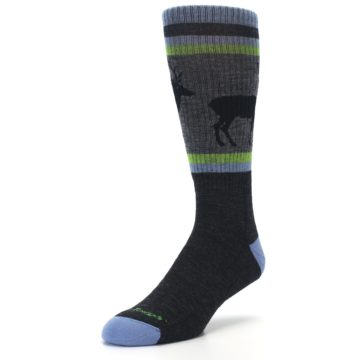Image of Blue Green Buck Wool Men's Hiking Socks (side-2-front-08)