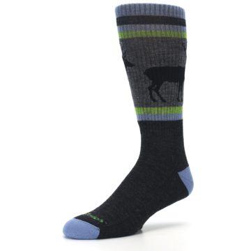 Image of Blue Green Buck Wool Men's Hiking Socks (side-2-09)