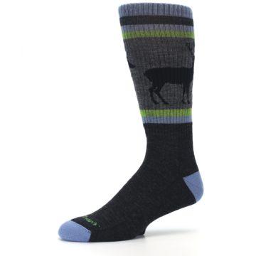 Image of Blue Green Buck Wool Men's Hiking Socks (side-2-10)
