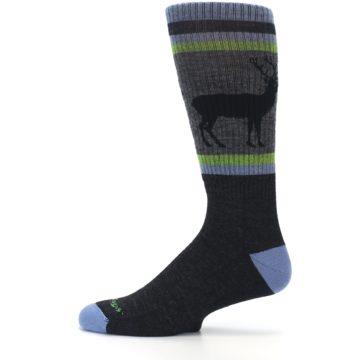 Image of Blue Green Buck Wool Men's Hiking Socks (side-2-12)