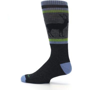 Image of Blue Green Buck Wool Men's Hiking Socks (side-2-13)