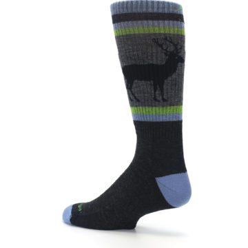 Image of Blue Green Buck Wool Men's Hiking Socks (side-2-back-14)