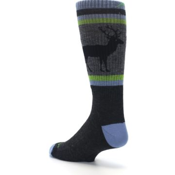 Image of Blue Green Buck Wool Men's Hiking Socks (side-2-back-15)